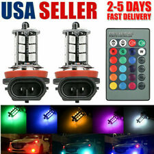 16 Colors RGB H11/H8/H9 LED Bulbs 27SMD 5050 LED Fog Lights Driving Bulbs Remote