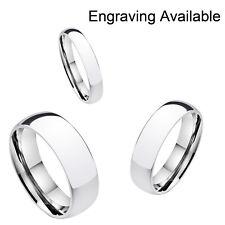 Tungsten Carbide Classic Silver Wedding Band Men Women Engagement Bridal Ring mx