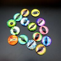 8/10/12/15/25mm Colorful Glass Dragon Eye Cat Eye Cameo Cabochons Jewelry