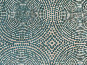 Osborne Little teal velvet and linen upholstery fabric remnant 40mx 300 cms new