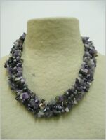 Amatista collar de minerales, Amethyst necklace 110