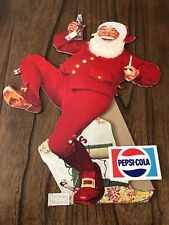1940-50'S Vintage PEPSI SANTA CHRISTMAS NORMAN ROCKWELL Stand Up