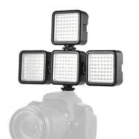 4PCS W49 LED Video Light Rechargeable Vlog iPhone Camera Fill Lamp for DSLR M8K1