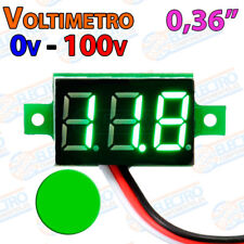 Mini Voltimetro 100v VERDE DC display 0,36 3 hilos digital voltmeter led