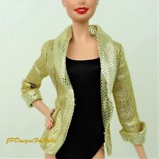 Doll Fashion Barbie Loves Elvis Gold Jacket Replacement
