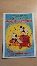 Disney Vintage, Postkarte Mickey: The Whoopee Party, 90er Jahre, unbeschrieben
