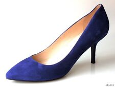 new CLAUDIA CIUTI 'Seline' blue suede shoes pumps Italy 8.5 - very pretty