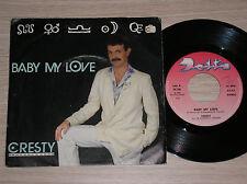 "CRESTY - BABY MY LOVE / ON MY MIND - 45 GIRI 7"" ITALY"