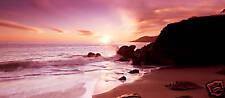 "EXTRA LARGE SEASCAPE CANVAS PRINT BEACH SUNSET 44""x 20"""