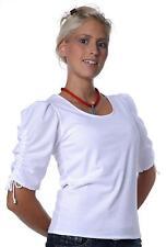 Dirndl-Trachtenbluse Shirt 2 weiß Gr.32,34,36,38,40,42,44,46,48 neu ungetragen