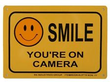 "RK Legend ""Smile, You're on Camera"" Aluminum Sign, 10"" x 7"", Weather/Rust Proof"