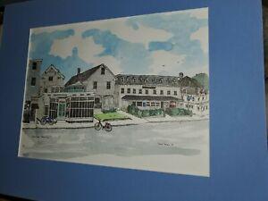 Water Street Block Island art print RI Jessie Forbes 1978