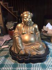 New listing Antique or Vintage seated Amida Bronze Buddha