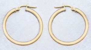 Creolen Gold 585 Ohrringe 2,4 cm