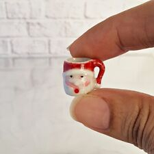 Dollhouse Miniature Ceramic Santa Mug Cup Mini Tiny Tableware Beverage Drink