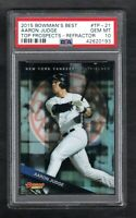 2015 Bowman's Best Aaron Judge RC Top Prospects-Refractor Gem Mint PSA 10