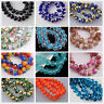 72pcs 8mm Rondelle Faceted Crystal Glass Loose Spacer Beads Findings 200+ Colors