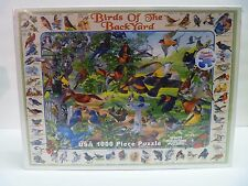 New Sealed Birds of the Backyard White Mountain Puzzle 1000 Piece