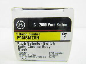 GE NSB P9MSMZ0N Selector Switch Knob Type 3 Position Black