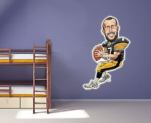 Ben Roethlisberger  wall decal Large 24 inch Contour Cut  Pittsburgh Steelers