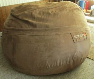 LoveSac SuperSac Earth Big One COVER ONLY Soft Brown Faux MicroSuede NICE