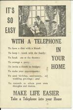 """New Zealand OFFICIAL PAID POSTCARD, Illustrated """"Tellephone"""" Advertising"""