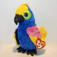 "Wynnie the Parrot - Ty Beanie Boo Plush - Style 36885 - Regular 6"" 15cm - NEW"