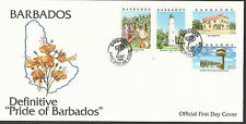 BARBADOS 2000  FDC LIGHTHOUSE AIRPORT SUGAR CANE FDC