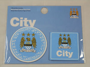 Manchester City FC Multi-Surface Adhesive Sign 2-pack - Official Merchandise