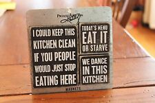 "Primitives by Kathy ""Kitchen Themed""  Magnet Set"