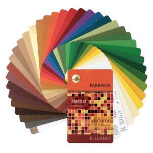 """Farbpass Herbst mit 35 Farben """"Elegance"""" zur Farbberatung - Farbfächer Herbsttyp"""
