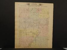 Missouri Vernon County Map Osage or Metz Township 1903 Dbl Side  L10#96