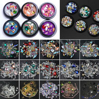 3D Nail Art DIY Mixed Crystal Decoration Rhinestones Glitter Diamonds Ball Box