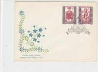 Poland 1959 Polish Folk Costumes Bird + Plant Cancel FDC Stamps Cover ref 22982