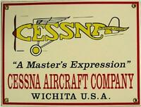 Cessna Aircraft Company Porcelain Sign