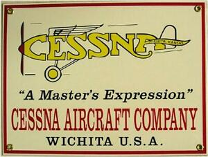 Cessna Aircraft Company Porcelain Sign