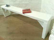 Farrow Ball Painted 5ft Rustic Reclaimed Old Pine Dining Plank Table Chair BENCH
