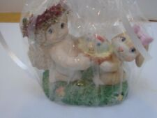 Dreamsicle Figurine Egg Hunt 2000 cherub angel rabbit bunny basket of eggs