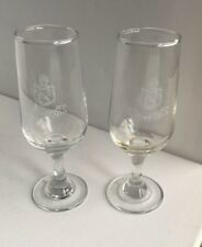 Two Domecq Sherry Glasses