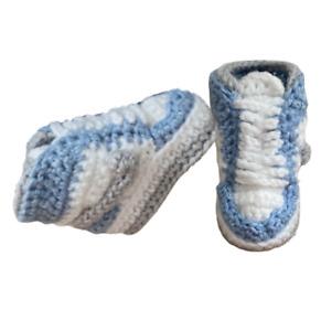 Baby Shoes Sneaker Crochet J-Air Basketball Royal Blue Boy