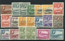 Antigua 1953-62 set + 5 listed shades SG120a/34+ FU cat £70