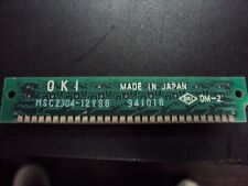 OKI Computer Chip Board w/ (8) OKI M41256A 942221102 Chips attached