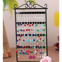 48 Hole Metal Jewelry Stand Rack Earring Necklace Organizer Holder Display