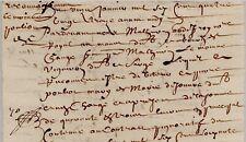 1693 Acte ancien Changé & Sargé POULIOT CORMIER GIRARD LEMOINE CORBION Généralit