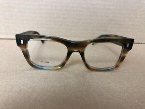 Authentic CELINE Striped Brown Grey Eyeglasses CL50011I - 055 48-18 145