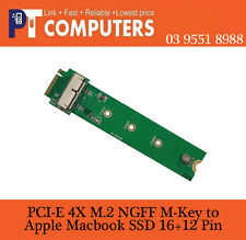 PCI Express M.2 NGFF  to 2013 2014 2015 Apple Mac SSD for A1465 A1466 M-key only