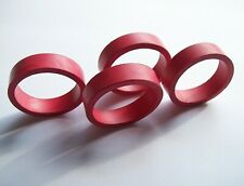 """4 Pinball Machine Flipper Rubber Red Rings 3"""" Size For Bats Bally Stern Williams"""
