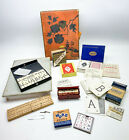 Vintage Games Collection in Vintage Terrys Chocolate box 1940s-1970s Fairylite