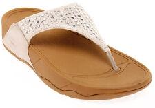 FitFlop Novy Sandals, Nude Studded Flip Flops, Women Size 11, $100