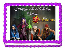 Disney descendants birthday party  edible cake image topper frosting-1/4 sheet